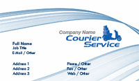 White and Blue Courier Service Business Card Template